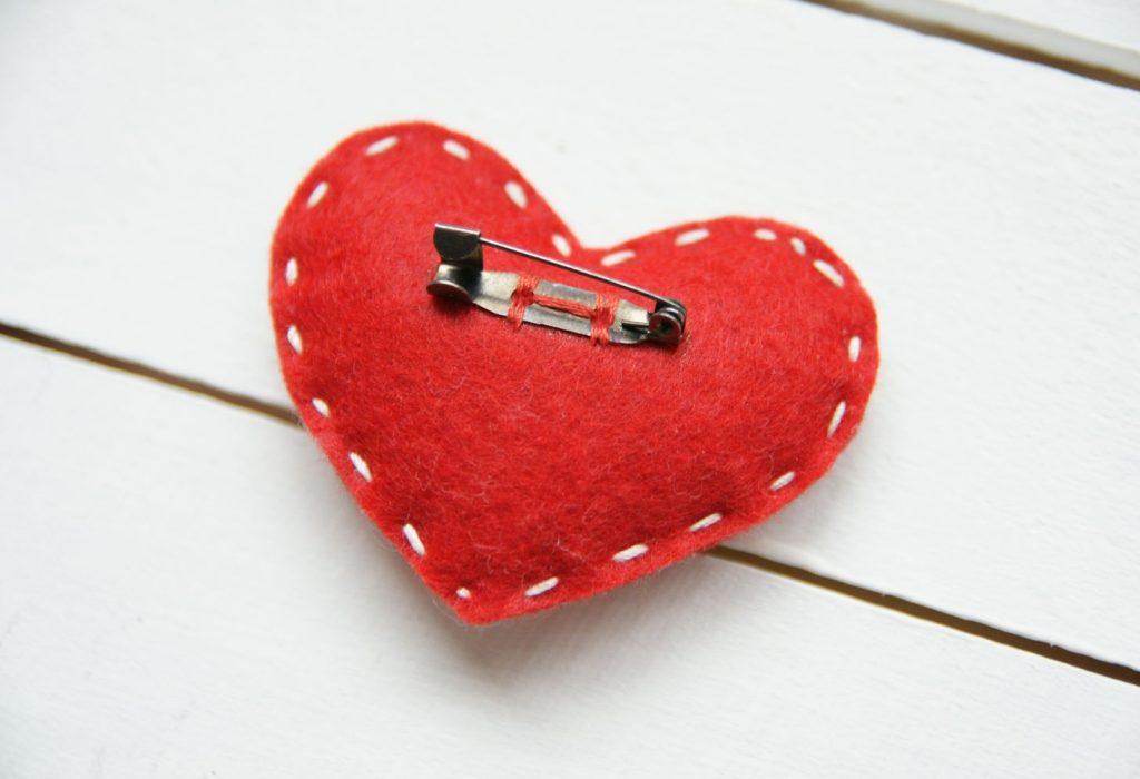 Сердце Брошь Сердце из фетра