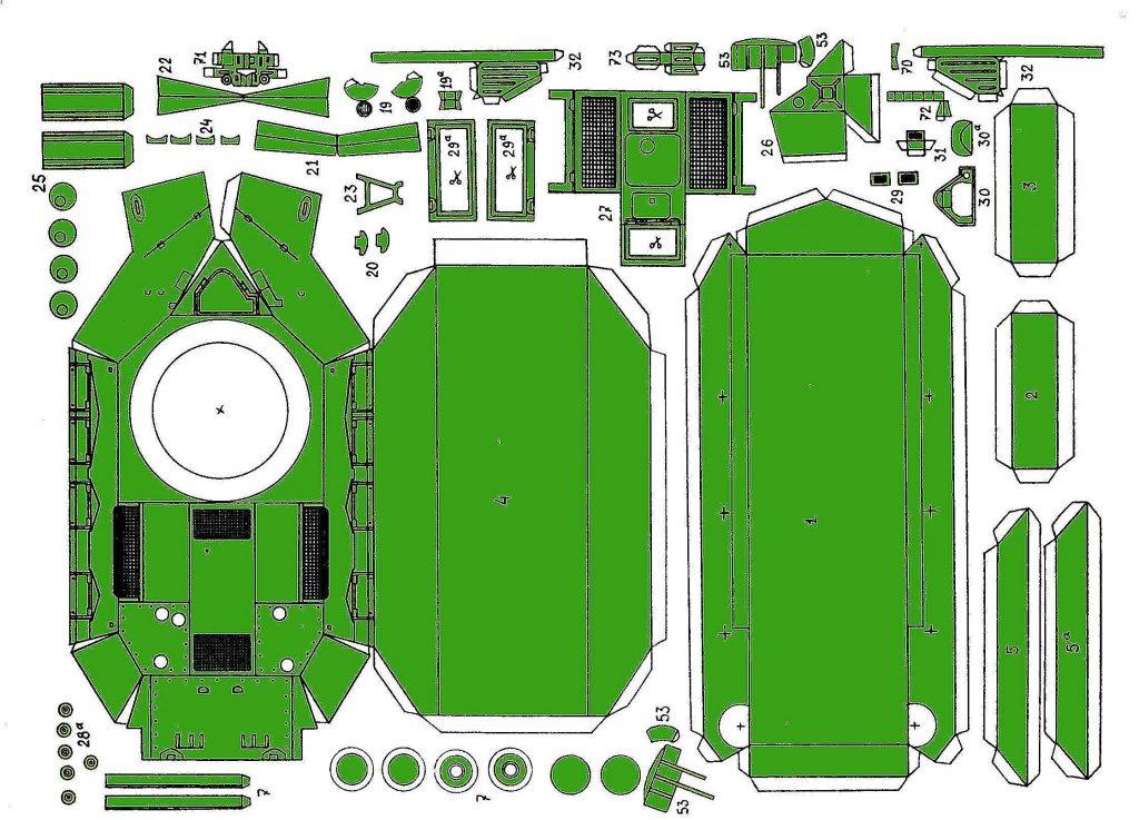 Схема развертка танка