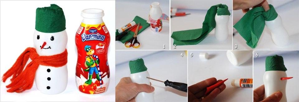Поделка из бутылочки от йогурта