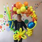 Композиция из шариков для учителя