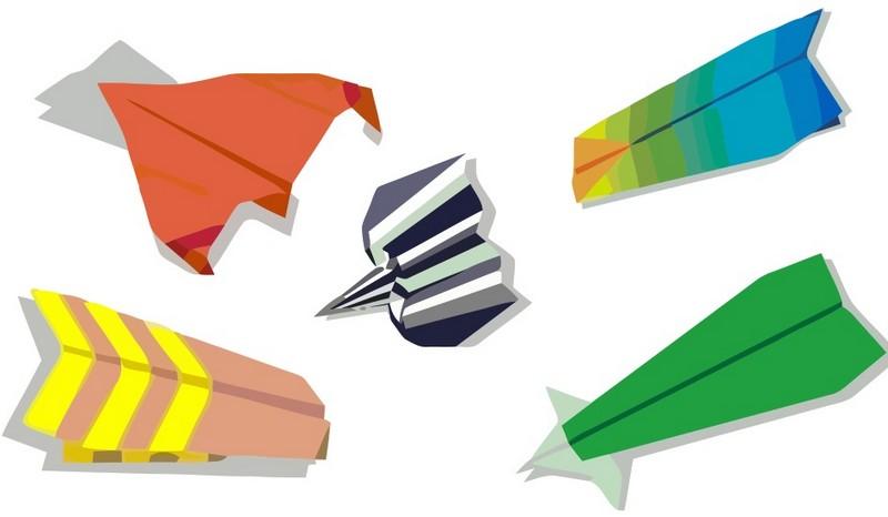 Разные типы бумажных самолетиков
