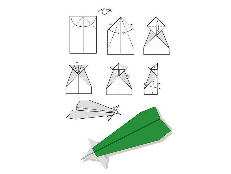 бумажные самолетики инструкция по картинкам запуски