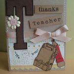 Скрап открытка для учителя