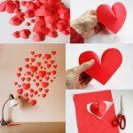 Сердце из бумаги на стену