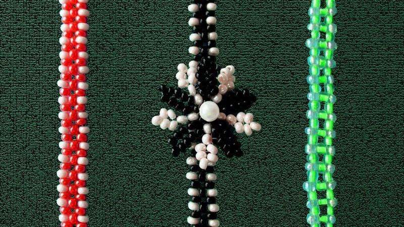 тонкие браслеты из бисера
