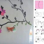 Веточка сакуры на стену