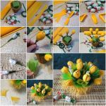 Изготовление букета тюльпанов из конфет