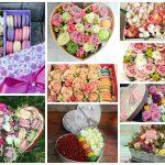Коробочки со сладостями и цветами