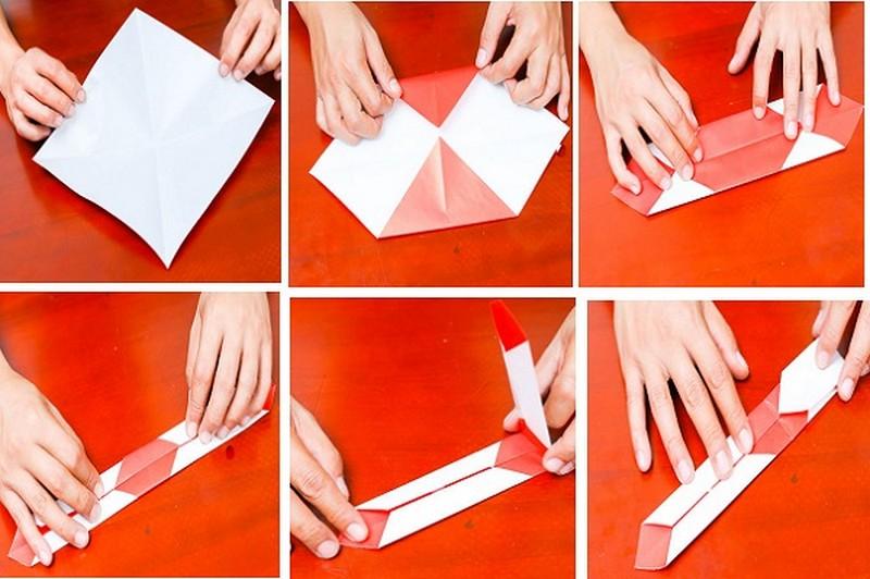 меч из бумаги схема