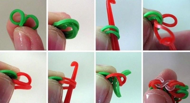 плетение с помощью крючка
