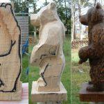 Мишки из дерева - примеры
