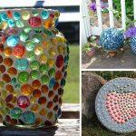 Вазы из стеклянных шариков