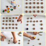 Игра мемори для детей своими руками из жёлудей