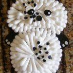 Панда из ватных палочек