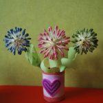 Цветочки из ватных палочек своими руками