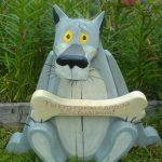 Фигура волка для дачи своими руками