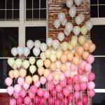 Украшение комнаты шарами из гелия