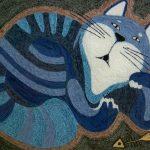 Кот из пряжи своими руками