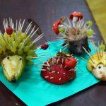 Идея для поделки в детский садик - ёжик