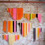 Декорирование стен нитками