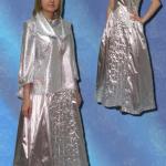 Платье из фольги