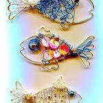 Брелок рыбка из проволоки