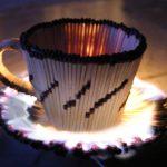 Чашка из спичек своими руками