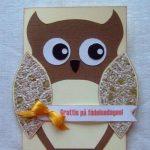 Детская открытка-сова