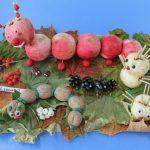 Детская поделка на тему осень из яблок
