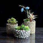 Горшки для цветов из клея