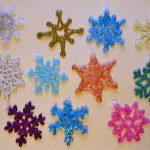 Идеи для снежинок из клея