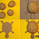 Как сделать черепаху из грецкого ореха