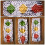 Модульное оригами - светофор
