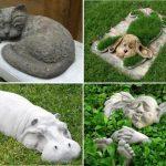 Примеры поделок для дачи - животные