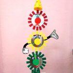 Поделка в детский сад - светофор из дисков