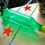 Самолёт из бутылки пластиковой