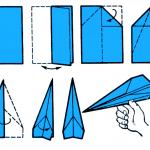 Схема бумажного самолётика