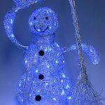 Снеговик - ночник из проволоки