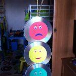 Светофор из дисков