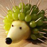 Ёжик из яблочков