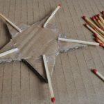 Звезда из спичек - детская поделка