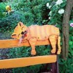Кот своими руками на забор
