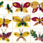Примеры бабочек из листьев