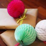 Бумажные шары из цветной бумаги