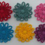 Вязанный декор - цветочки