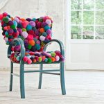 Накидка на кресло из пряжи