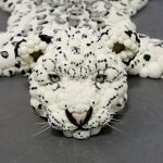 Ковёр из помпонов - тигр