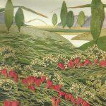 Пейзаж из сухоцветов и листьев