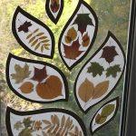 Поделки из осенних листьев на окна