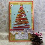 Новогодняя открытка к новому году из пряжи